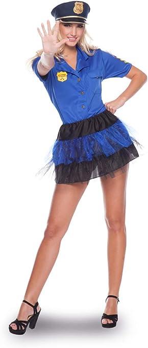 Folat 21933 Sexy Disfraz de policía Uniforme de la Mujer (2 Piezas ...