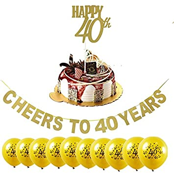 Losuya 40th Birthday Party Decoration Kit