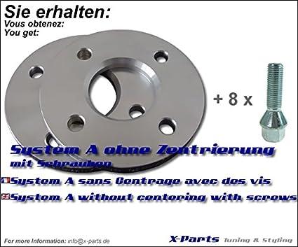 5x100 57,1-20612118/_4250891951790 SilverLine by RSC Spurverbreiterung 20mm Achse// 10mm Seite LK