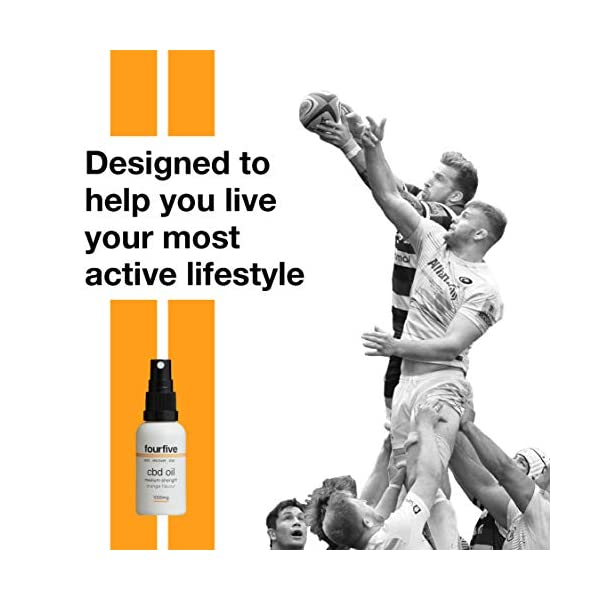 Fourfive 1000mg CBD Oil Spray Cannabidiol Orange Flavour 30ml