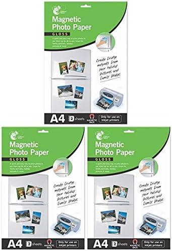 OKBY Carta Magnetica A4-5pcs a4 Foglio Magnetico Flessibile di Stampa a Getto dinchiostro con Foglio di Carta Fotografica stampabile