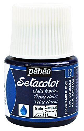 Pebeo Setacolor Fabrics 45 Milliliter Ultramarine