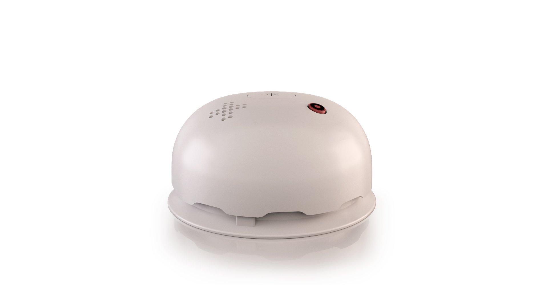 Lumens Basic Blanc/Blanc - Détecteur de fumée qui remplace votre socle/pavillon luminaire product image