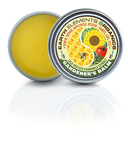 Chamomile Gardener's Balm - Unscented, Alcohol-Free & Soothing - Dry, Cracked, Scratched Skin. Blisters & Cuticles. Hands, Face, Heals & Feet. Sunburn. Minor Burns & Heavy Dryness.