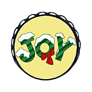 Chicforest Ancient Style Snow Covered Joy Round Pin Brooch