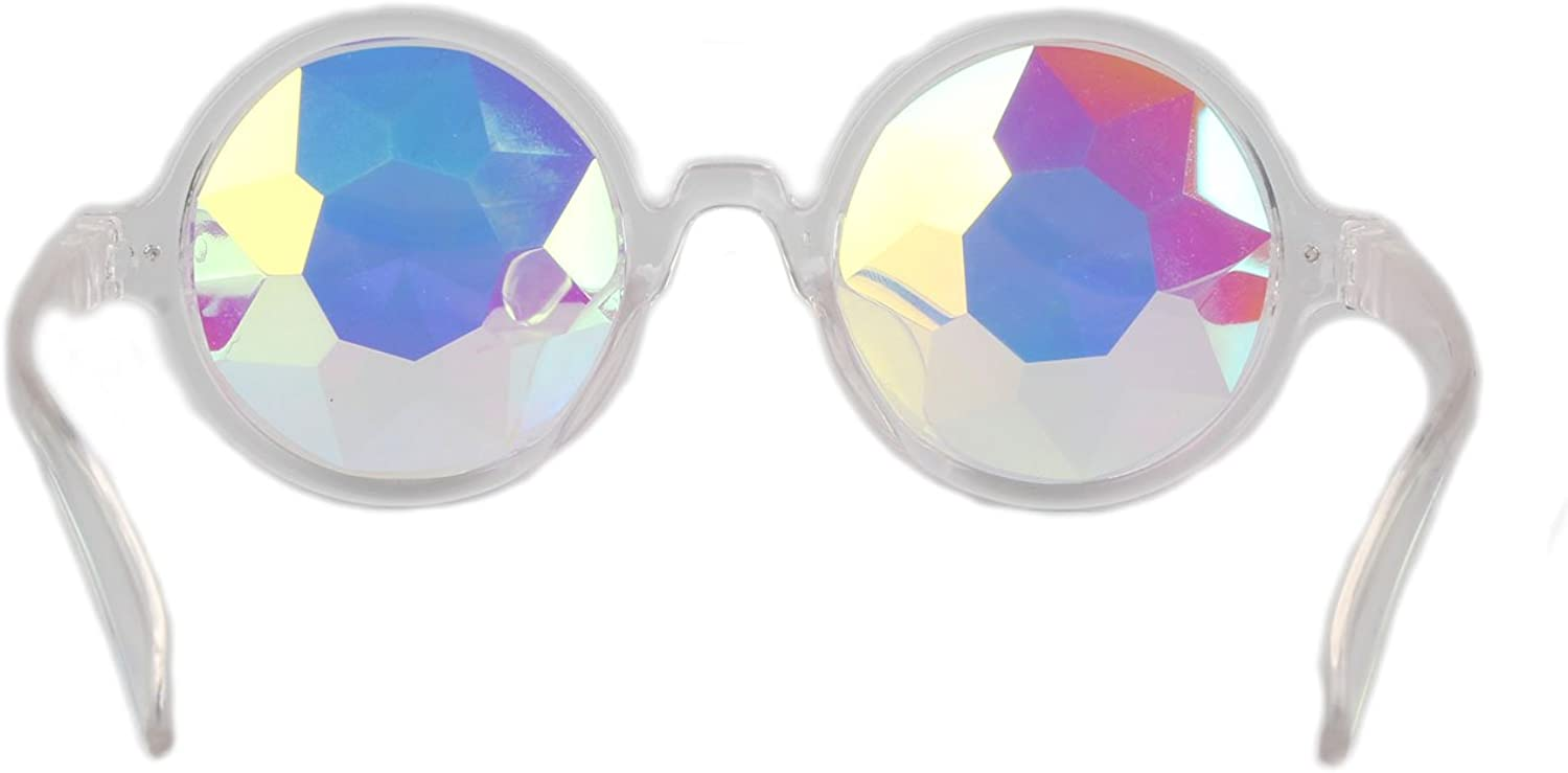 HIOFFER Kaleidoscope Steam Punk Cosplay Goggles-Rainbow Color Rave Prism Diffraction