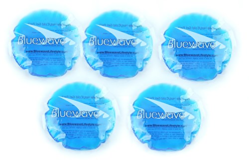 Bluewave 4 Round Hot | Cold Gel Pack 5Count Blue