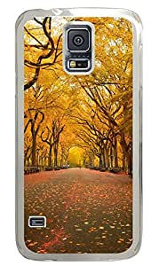 Samsung Galaxy S5 Cases & Covers - Yellow Trees In The Park PC Custom Soft Case Cover Protector for Samsung Galaxy S5 - Transparent