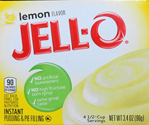 - Jell-O Lemon Instant Pudding & Pie Filling, 3.4 Oz (96g) 3-pack