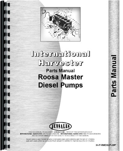 International Harvester Roosa Master Injection Pump Parts Manual
