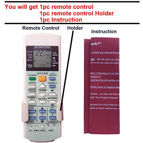 Generic Replacement Air Conditioner Remote Control for Panasonic A75c2998 by Generic