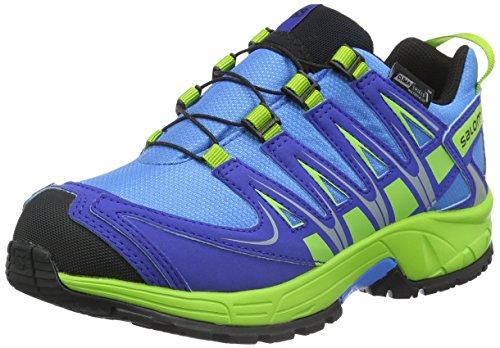 Salomon Xa Pro 3d Cswp - Zapatillas de Entrenamiento Unisex Niños Azul - Blau (Freedom Blue/Cobalt/Granny Green)