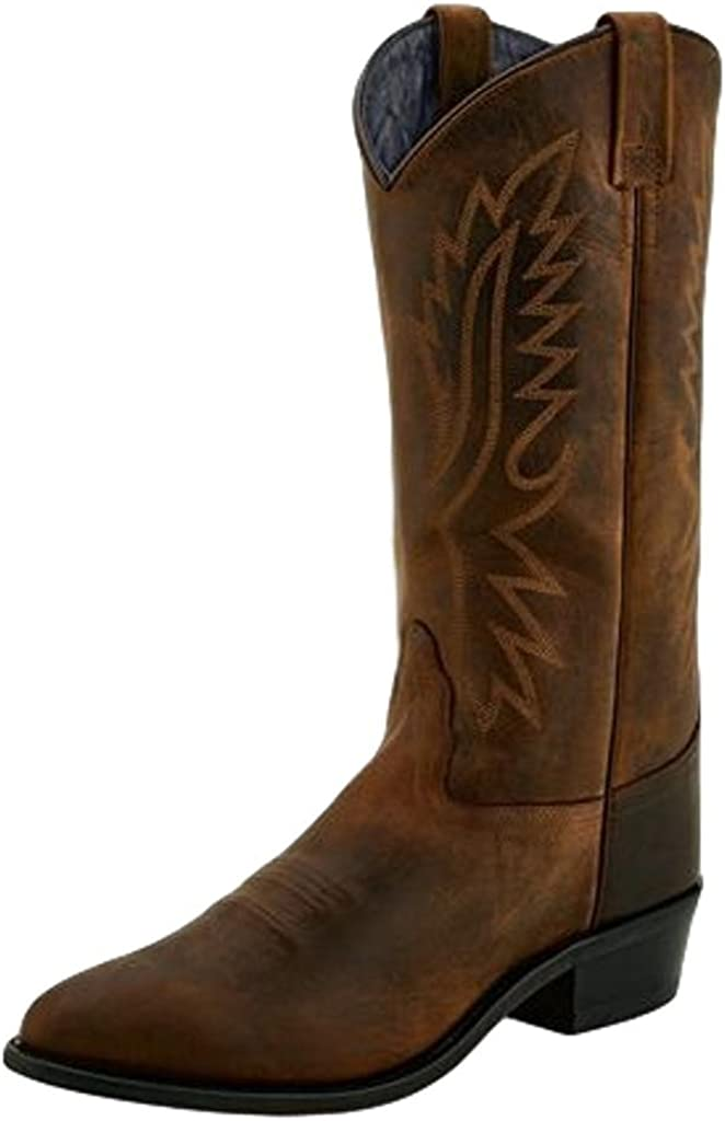 Amazon.com   Old West Men's Polanil Western Boot Round Toe Brown 9 D    Western