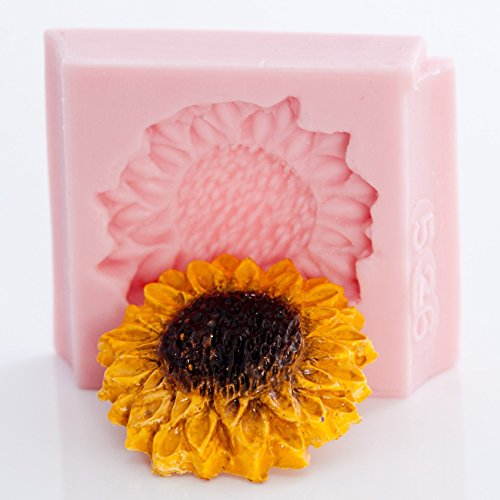 Sunflower Silicone Mold Food Safe Fondant, Chocolate, Candy, Mint, Resin, Polymer Clay, Jewelry, Craft Mold. Flexible and easy to use.