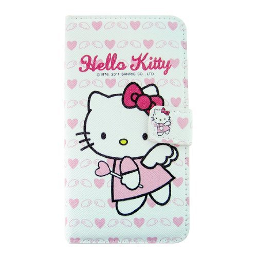 Cute Angle Hello Kitty Love Heart Leather Flip Light Case Skin Cover for Samsung Galaxy S3 I9300