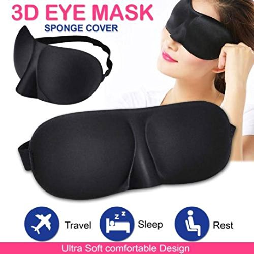 (LiPing 3D Beauty Sponge Light Blocking Sleep Mask Padded Shade Cover Travel Relax Aid Remove Dark Circles Under Eye -Most Effective Anti-Aging from)