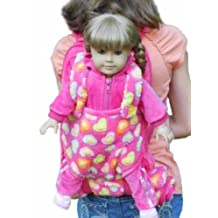 The Queen's Treasures Child's Backpack with 18-Inch Doll Sleeping Bag, Pink