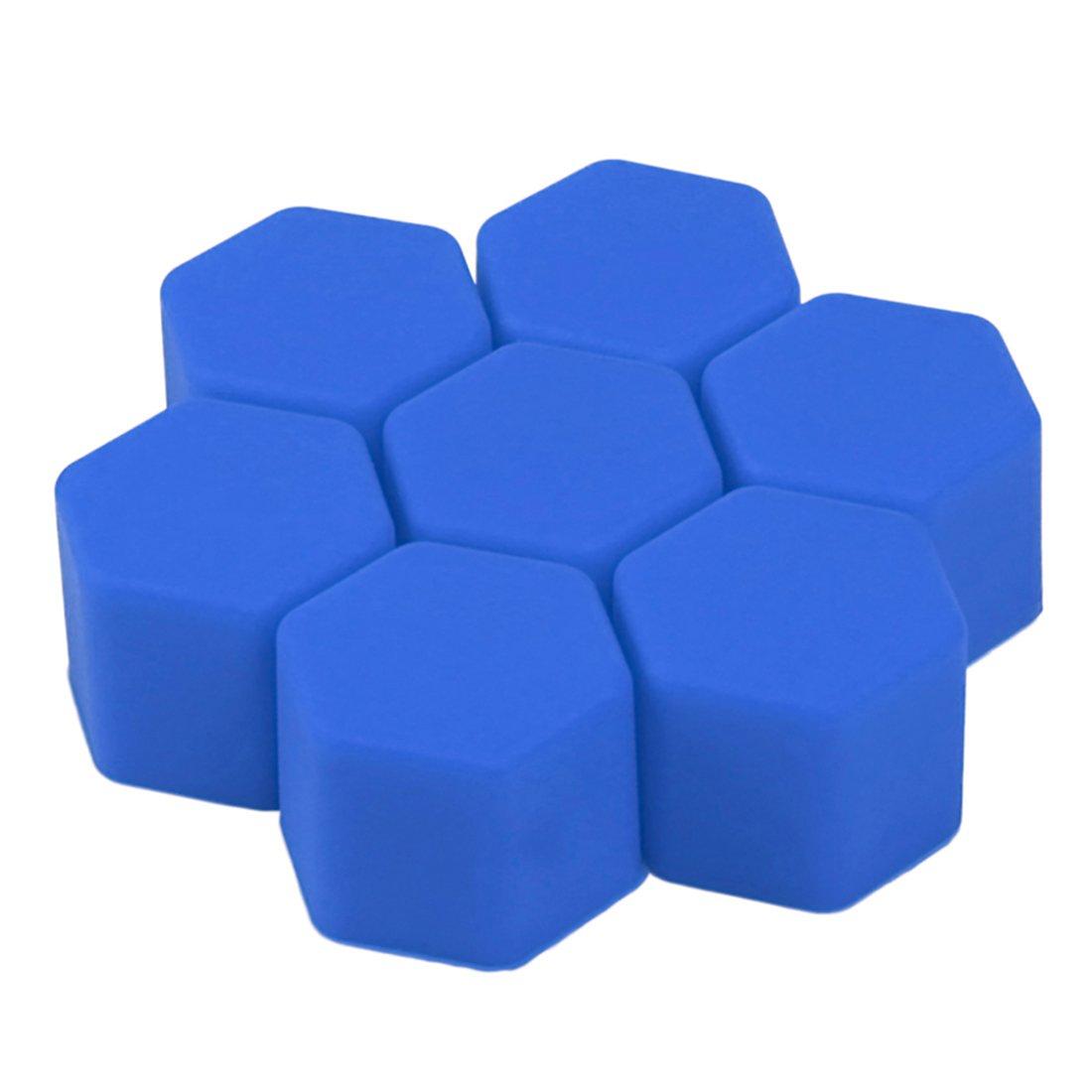 Andux Zone LSBHT-01 Tapas de silicona para tornillos de llantas 20 unidades