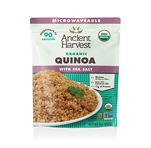 Ancient Harvest Microwaveable Organic Quinoa with Sea Salt (Pack of 12) - Ready Heat