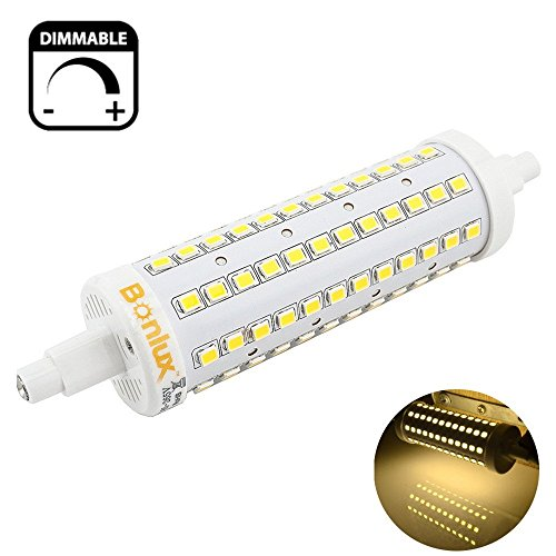 10w Replacement (Bonlux R7S LED 118mm Dimmable 10W Warm White J Type Double Ended Tungsten Halogen Bulb 100W Replacement LED R7S Bulb)