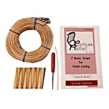Complete Chair Caning Kit, Includes 270' of Cane, Awl, 12 Pegs, Full Color Instruction Booklet, Pegging Material and 4mm Binder Strip (Fine-Fine 2.25mm)