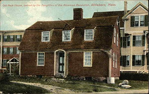 Old Peck House, Owned by Daughters of the American Revolution MA Original Vintage Postcard