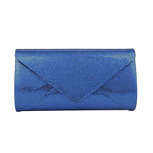 HOTSTYLEZONE GLITTER PARTY CLUTCH Blue BRIDAL Royal SHIMMER PROM EVENING BAG ENVELOPE WEDDING LADIES frEXqr