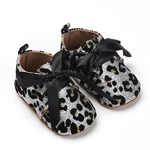 Au 0 Pour Chaussures Pas Paillettes Blanc De Bzline® Bébés Lacet Soft Pu Filles Premier 18mois wCI71qp