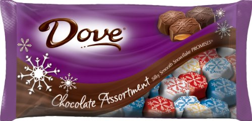 DOVE PROMISES Holiday Snowflake Assorted Chocolate Candy 8.2-Ounce Bag ()