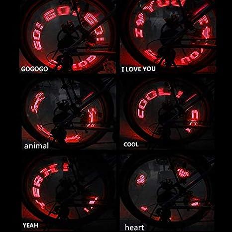X-BAOFU, Rueda de Bicicleta Rayo LED Lámpara de luz Ciclo ...