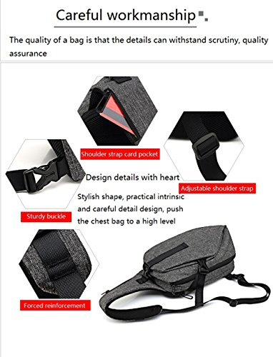 Bag Travel Outdoor Sports Chest Usb Crossbody Black Casual With Waterproof Port Charging Jl Sling Men Hiking Women 5zpqwgw1