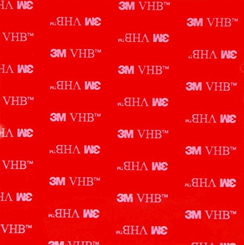 Simply the Best CLEAR Selfadhesive Double Sided 3M VHB Acrylic SQUARES ~ 100mm x 100mm x 1mm Thick ~ Electronics, DIY, Car Pads Tape