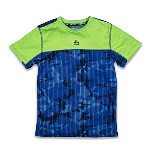 RBX Active Boy's Mesh Short Sleeve Performance T-Shirt With Graphic Tougher Grey - Scuderia West