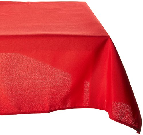 LinenTablecloth Polyester Tablecloth 90-Inch By 132-Inch, Red (Red Tablecloths)