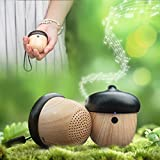 Auntwhale Creative Handsfree Wireless Bluetooth 2.1 Cute Nut Tiny Mini Speaker Subwoofer with Sling Outdoor Music Portable 6-7 Hours of Wireless Listening after Full Charge
