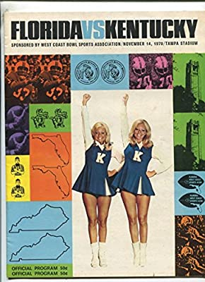 Florida Vs Kentucky Football- Offical Program Nov.14, 1970 MBX96