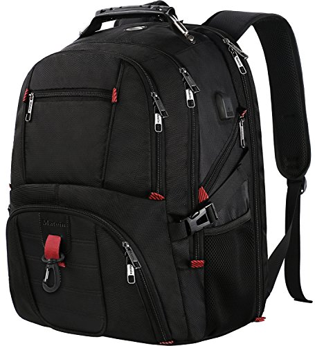 Large School Backpack, Water Resistant Travel Backpack for Women and Men, TSA Friendly Laptop Backpack Business Bag for 17 Inch Computer Notebook, Big College Bookbag with USB Port & Headphone Hole (Case Urban Laptop Business)