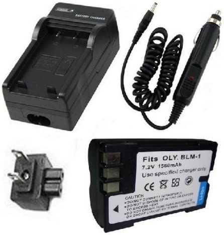 Batería + Cargador para Olympus BLM-1, PS-BLM1 y Olympus E-30, E ...