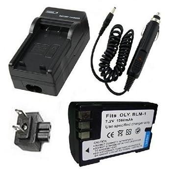 Amazon.com: Batería + Cargador para Olympus BLM-1, PS-BLM1 ...