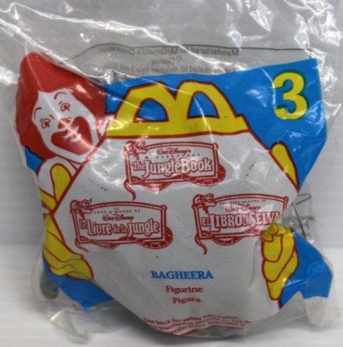 Meal Happy Collectibles (McDonalds Happy Meal #3 Walt Disney's Jungle Book Bagheera Figure)