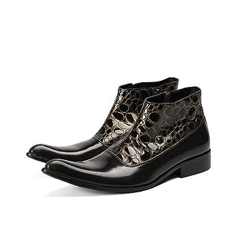 Mr.Zhangs Art Home Mens shoes Botines Negros Puntiagudos estilistas para ...