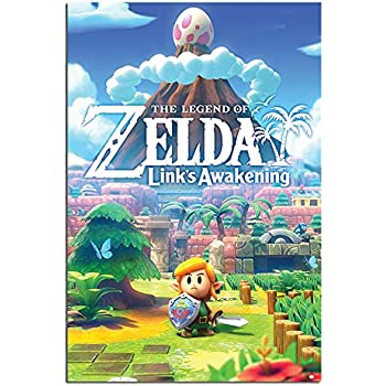 "Zelda Link Switch Video Game 24/"" x 16/"" Large Wall Poster Art Print Gift Decor"