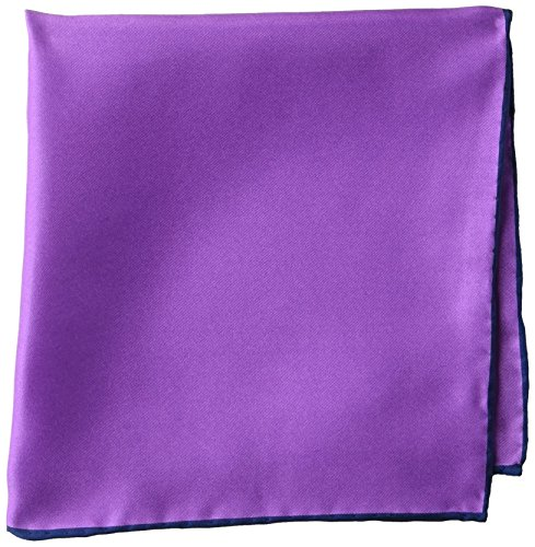 - BUTTONED DOWN Men's Classic Silk Hand Rolled Pocket Square, solid purple, One Size