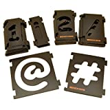 31pc Number and Symbol Sign Template Stencil Cutting Signs Routing Router Sil170