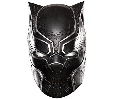 Marvel Men's Captain America: Civil War Black Panther Full Vinyl Mask, Multi, One Size (Marvel Black Panther Halloween Costumes)