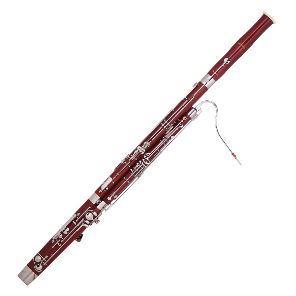 ammoon C Key Bassoon Maple Wood Body Woodwind Instrument with Reed Gloves Cleaning Cloth Carrying Case by ammoon