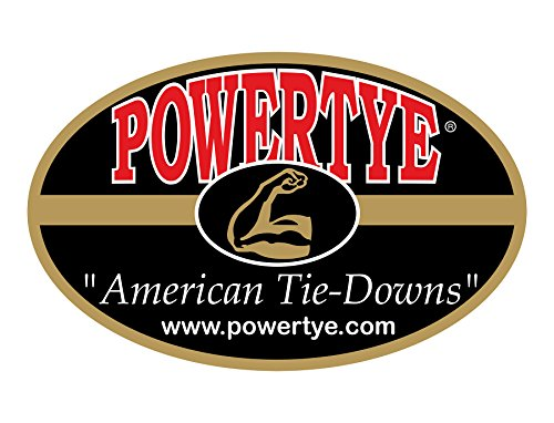 1½'' x 4ft PowerTye Made in USA Heavy-Duty Lashing Strap with Heavy-Duty Buckle, Red, 2-Pack by Powertye (Image #4)
