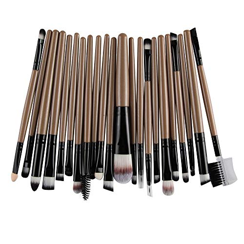 Eye Fx Special (Beauty Cosmetic Tools, 22PCS Wooden Foundation Cosmetic Eyebrow Eyeshadow Brush Makeup Brush Sets Tools (Coffee))