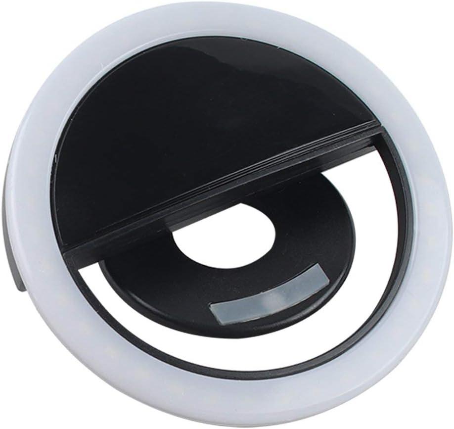 Paperllong/® Selfie Fill Led Flash Lens Beauty Fill Light Lamp Nouveaut/é Clip Usb Rechargeable 36 Leds Smartphone Photo Camera Ring