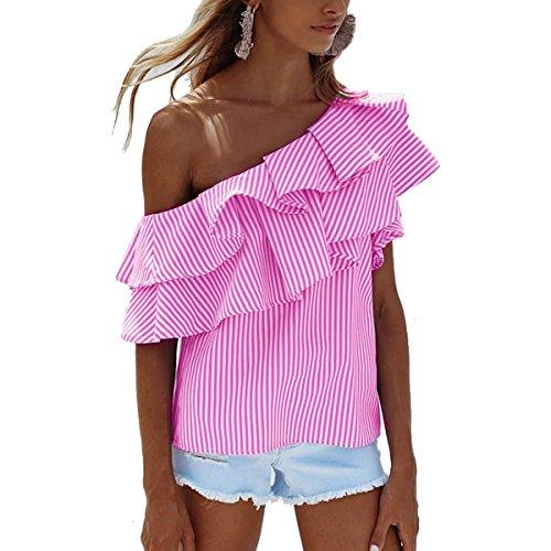Leezeshaw - Camisas - para mujer Rosa